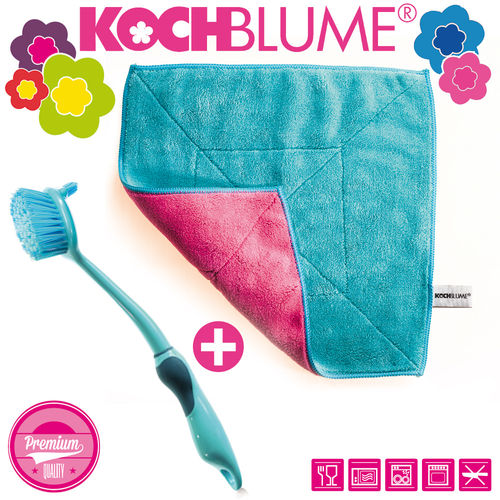 Kochblume - Microfiber cloth + Dish brush 31 cm