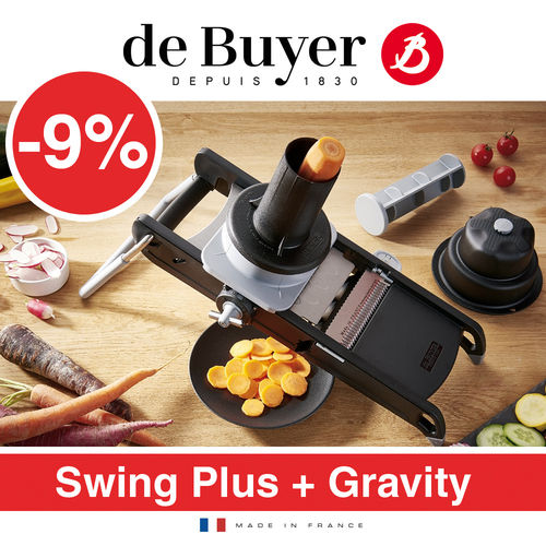 de Buyer - La Mandoline Swing Plus + Gravity