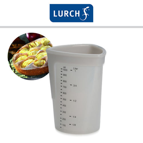Lurch - measuring cup silicone 1l light grey