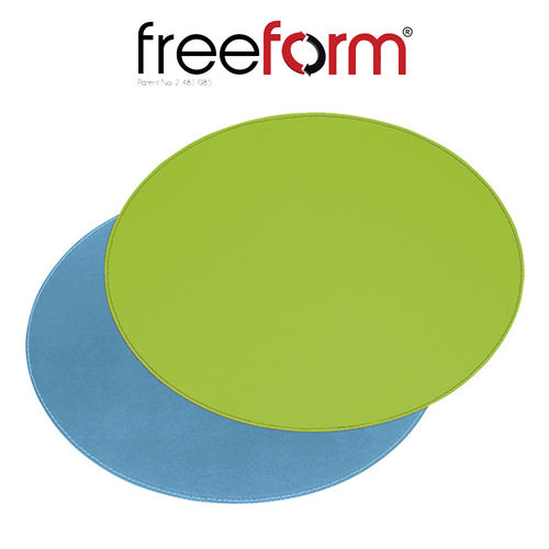 Freeform - Placemat oval - green & turquoise - 45 x 34 cm