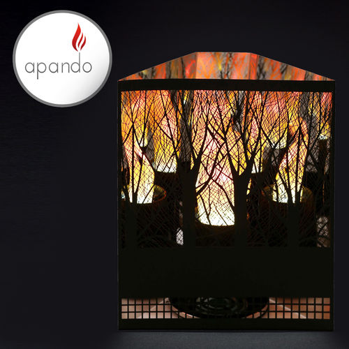 "Apando - Flame light ""Firebox"" - Forest black"