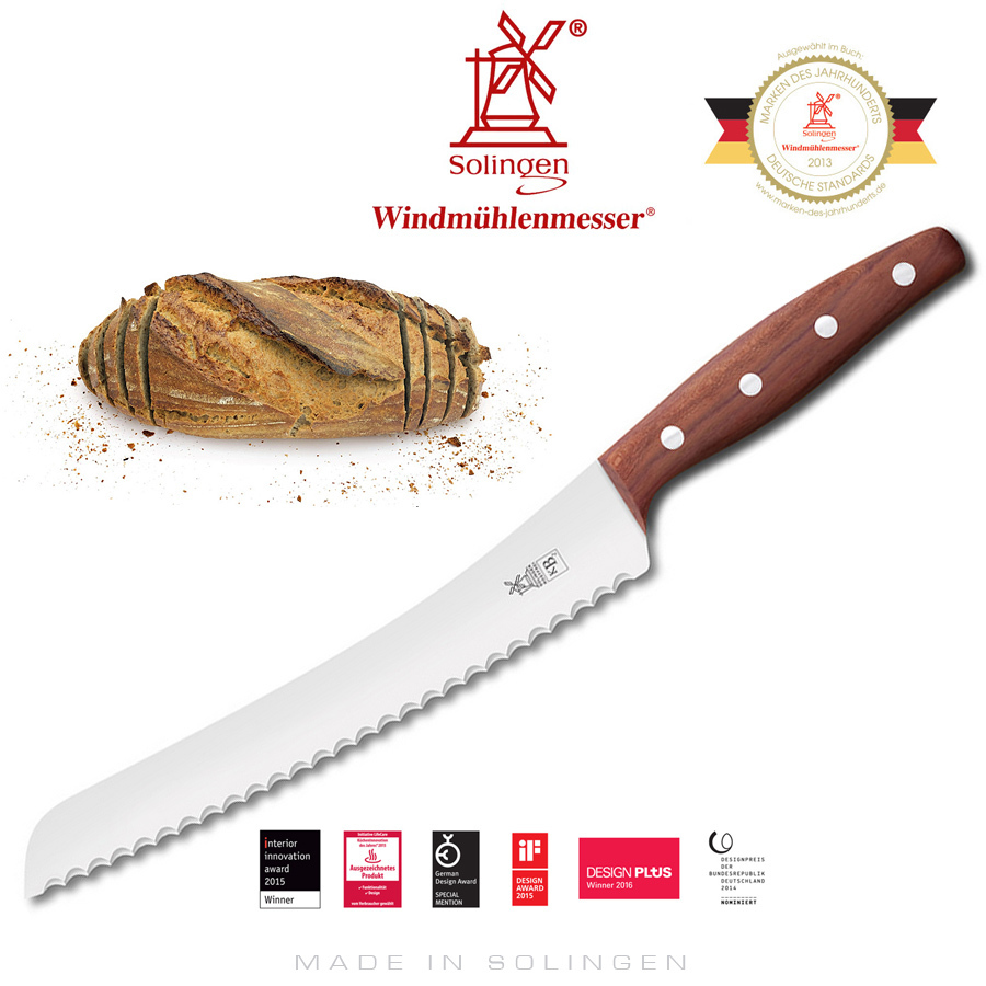 Windmill Knives - KB2 - BrotBeidhänder - Plum wood