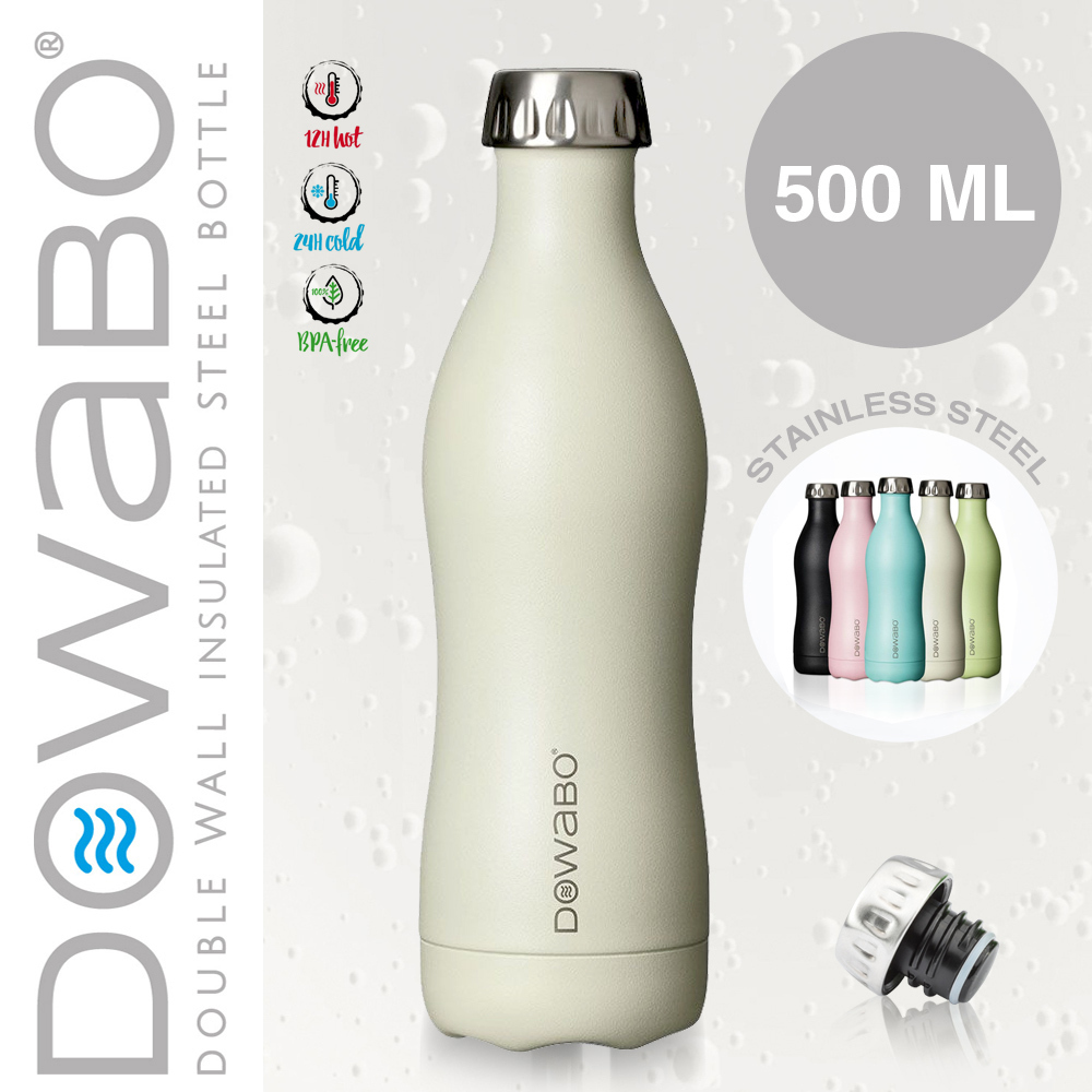 Dowabo - Double Wall Insuladet Bottle - Pina Colada 500 ml