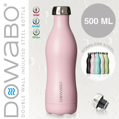 Dowabo - Double Wall Insuladet Bottle - Flamingo 500 ml