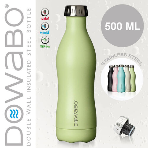 Dowabo - Double Wall Insuladet Bottle - Grasshopper 500 ml