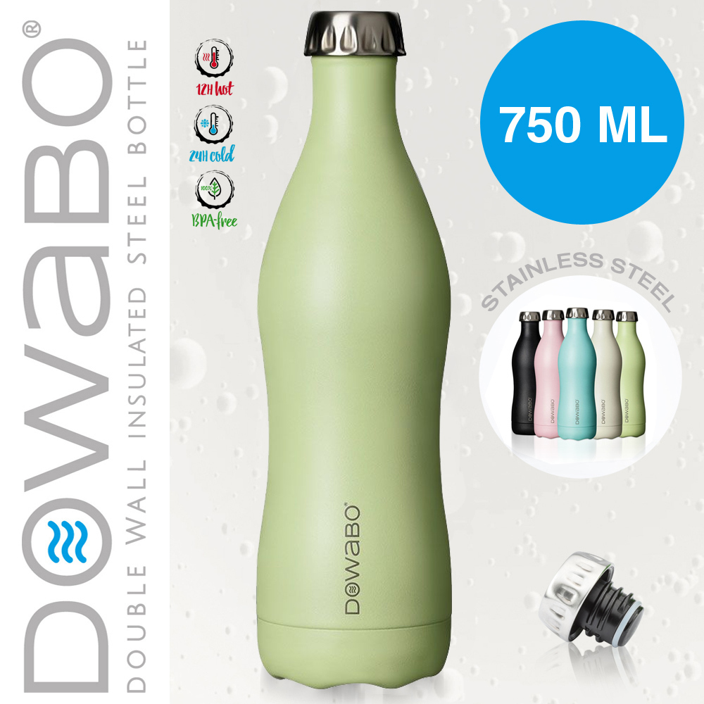 Dowabo - Double Wall Insuladet Bottle - Grasshopper 750 ml