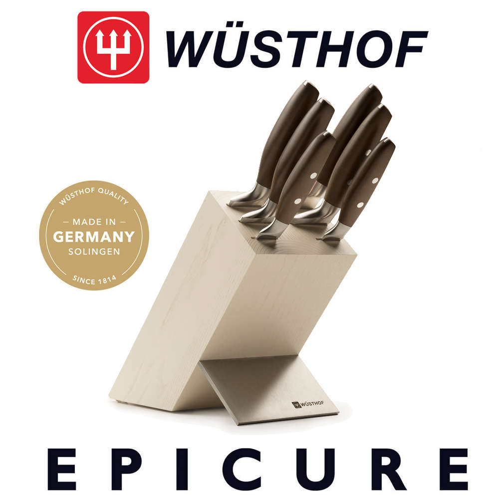 Wusthof Epicure Knife Block 7 Pieces Ash Tree Chef S Knife