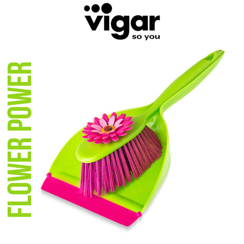 Vigar - Hand Brush Set Flower Power