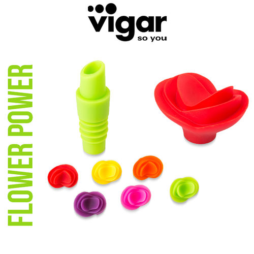 Vigar - Wine Stopper Flower Power