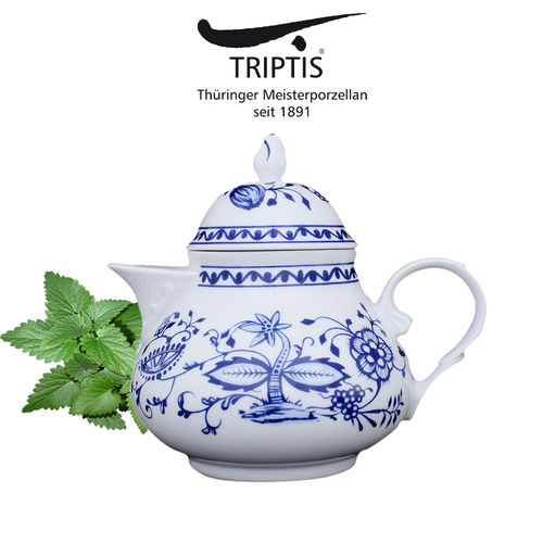 Triptis - Romantika - onion pattern - tea pot 1 L