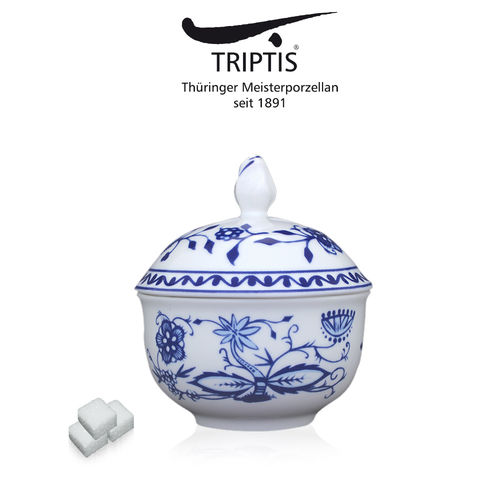 Triptis - Romantika - onion pattern - sugar bowl