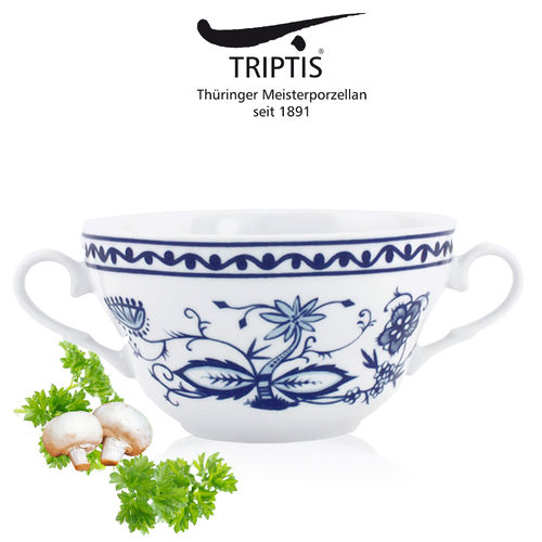 Triptis - Romantika - onion pattern - soup cup