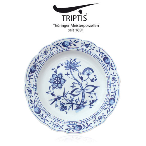 Triptis - Romantika - onion pattern - plate deep