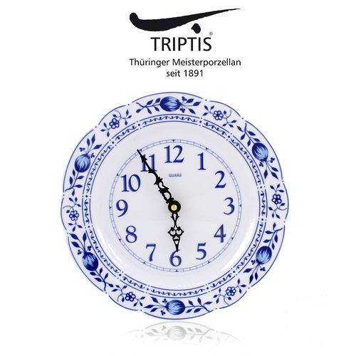 Triptis - Romantika - onion pattern - clock