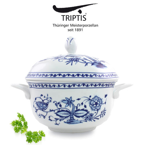 Triptis - Romantika - onion pattern - covered dish