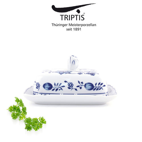 Triptis - Romantika - onion pattern - butter dish