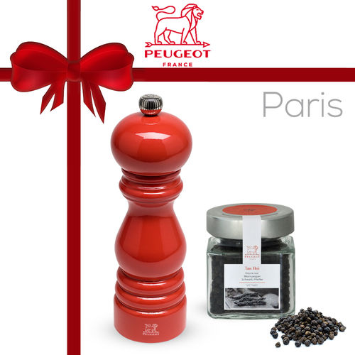 PSP Peugeot - Gift Set Pepper Mill Paris Red + 70g Tan Hoi Pepper