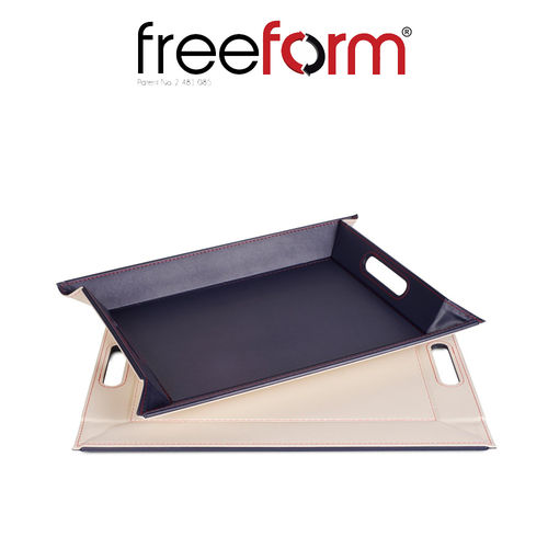 Freeform - Tray - Navy & Ivory - 45 x 35 cm