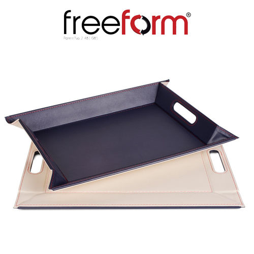Freeform - Tray - Navy & Ivory - 55 x 41 cm