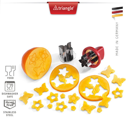 Triangle® - Vegetable Cookie Cutter Set Veggie 3 parts