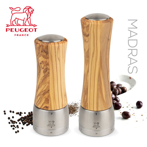 PSP Peugeot - Pepper & Salt Mill Madras - olive wood