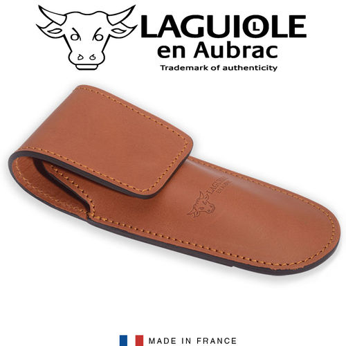 Laguiole - Leather case for 14 cm hunting knife