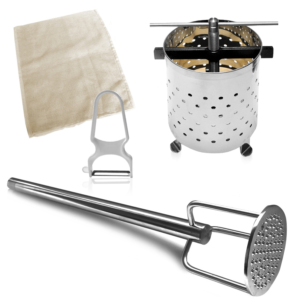 Thuringian dumpling presse small + Press bag + Masher