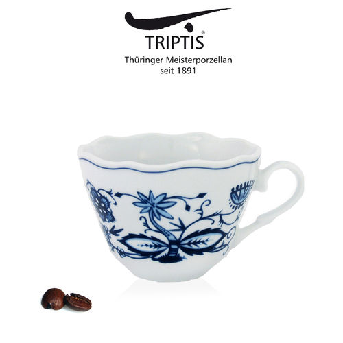 Triptis - Romantika - onion pattern - coffee cup festooned