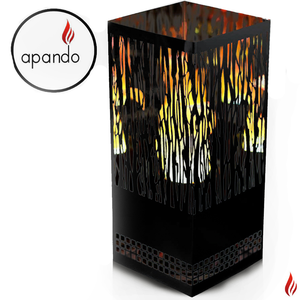 "Apando - Flame light ""Square Brazier"" - Vine black"
