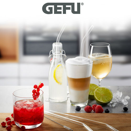 Gefu - Glastrinkhalm FUTURE transparent