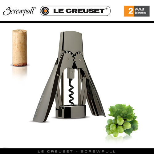 Le Creuset Screwpull - Lever corkscrew WL-300B Black Metal