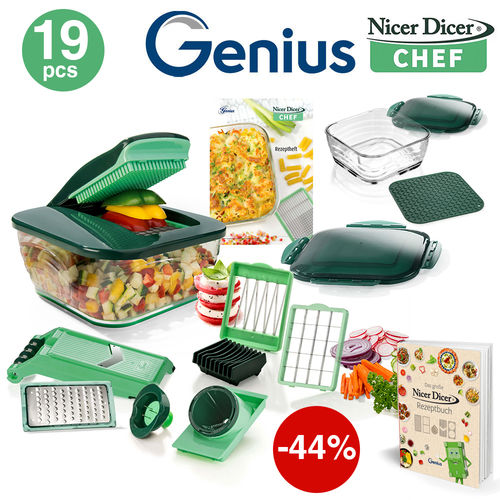 Genius - Nicer Dicer Chef Set of 19 pcs.