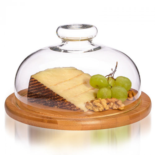 Trendglas Jena - cheese cover with wooden plate