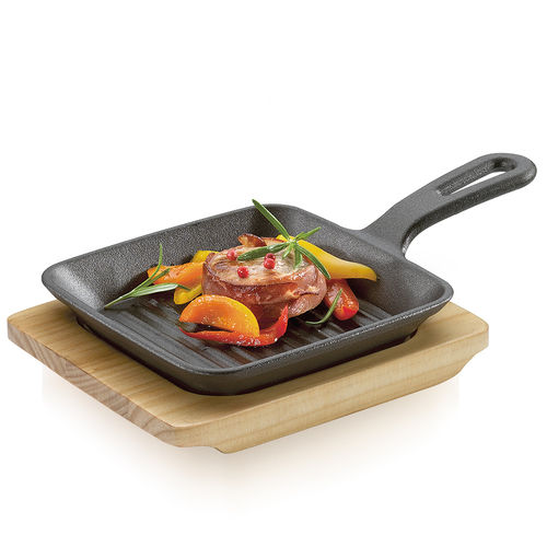 Küchenprofi - BBQ grill / serving pan with wooden board