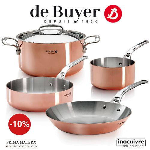 de Buyer - Copper Cookware Set of 4 - Prima Matera