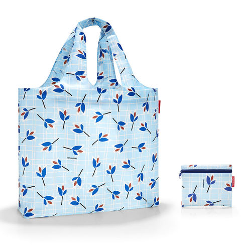 reisenthel - mini maxi beachbag - leaves blue