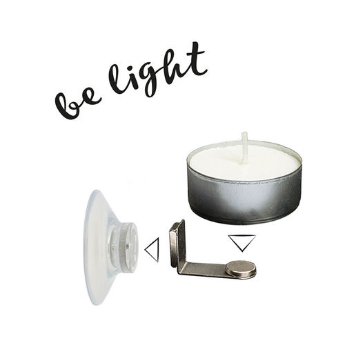 "Take2 - Floating candle set of 2 ""Be Light"""