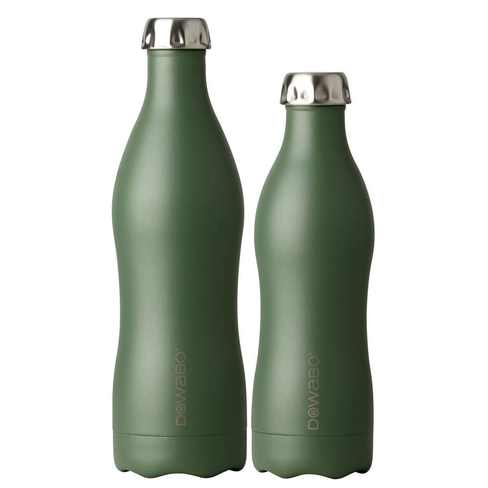 Dowabo - Double Wall Insuladet Bottle - Earth Collection Olive 750 ml