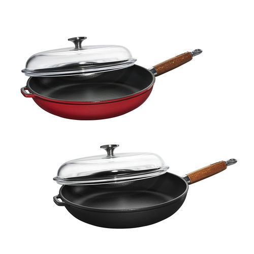 Chasseur - Frypan with Wood Handle + glass lid