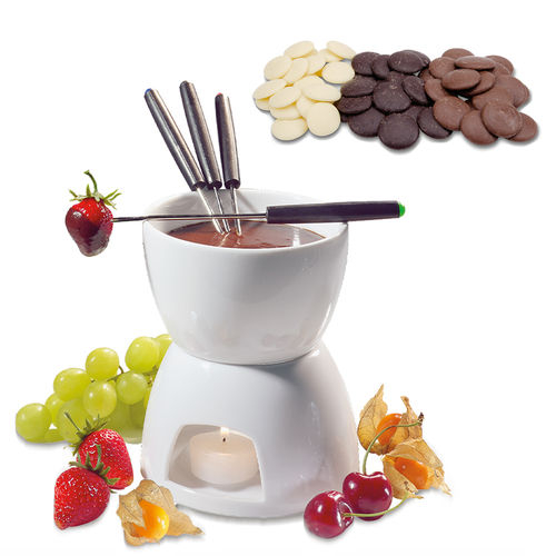 cilio - chocolate fondue set + Städter couverture drops