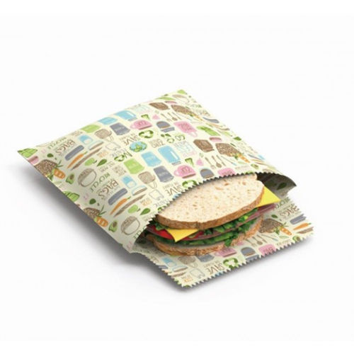 "Nuts - Beeswax Wrap Sandwich & Snack bag Set ""Zero Waste"""