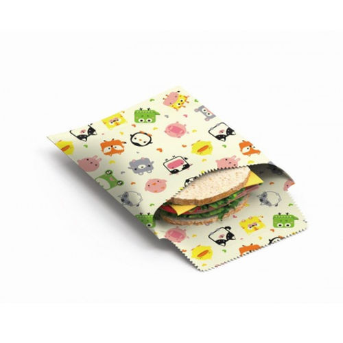 "Nuts - Beeswax Wrap Sandwich & Snack bag Set ""Kids"""