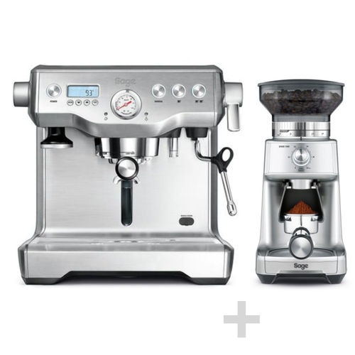 SAGE - Espresso Machine + Coffee Grinder - Stainless Steel