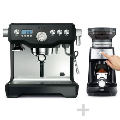 SAGE - Espresso Machine + Coffee Grinder - Black Truffle