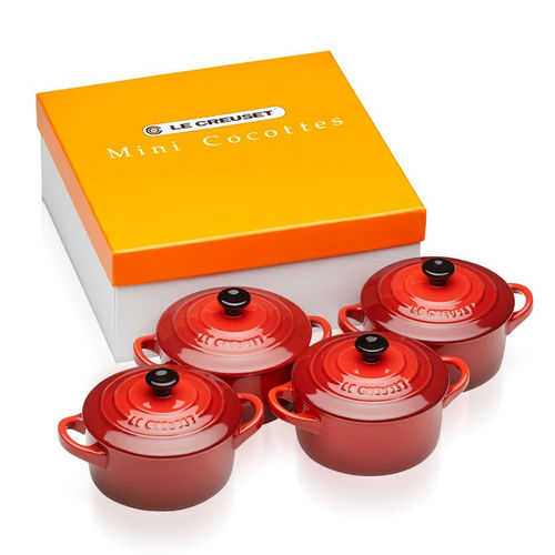 Le Creuset - Set of 4 Petite Casseroles - Red