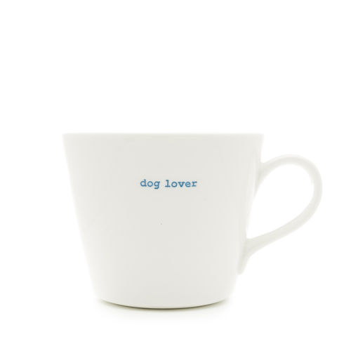 "MAKE - Bucket Mug ""dog lover"" 350 ml"