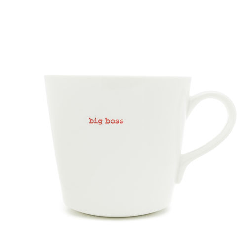 "MAKE - Large Bucket Mug ""big boss"" 500 ml"