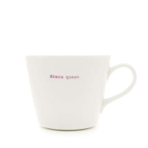"MAKE - Bucket Mug ""drama queen"" 350 ml"