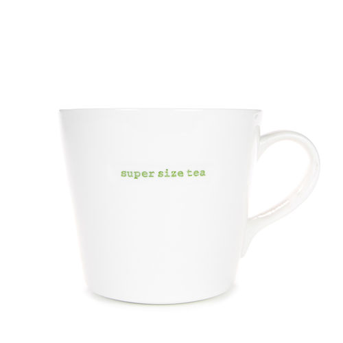 "MAKE - Large Bucket Mug ""super size tea"" 500 ml"