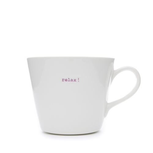 "MAKE - Bucket Mug ""relax!"" 350 ml"